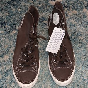 Men's Brown/ Cream Converse Brown High-tops BNWT